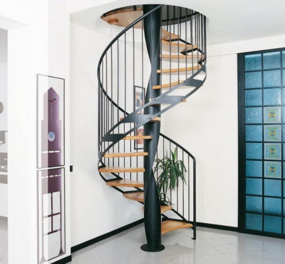 Space Saver Spiral Staircase Decoratorist 223199 | Space Saving Spiral Staircase | Kid Friendly | Iron | Design | Mini | Roof Access