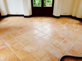 Spanish Terracotta Floor Cleaned Sealed Mallorca