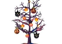 Sparkling Color Changing Halloween Tree Ornaments