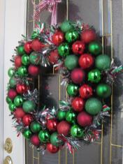 Sparkly Christmas Wreath Nest Handmade