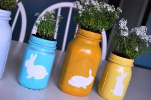 Spray Painted Mason Jars Just Another Day Paradise