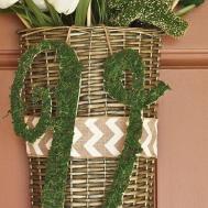Spring Decor Door Basket Moss Covered Initial Hometalk