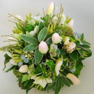 Spring Floral Arrangement Plinth