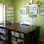 Sprinkled Glitter Craft Room Organization