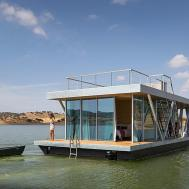 Square Houseboat Modern Oasis Water