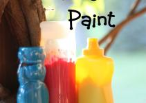Squeezable Homemade Finger Paint Can Teach Child