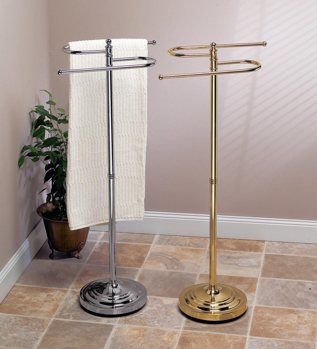 standing towel holder bathroom rack