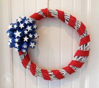 Stars Stripes 4th July Wreath