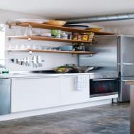 Steel Kitchen Shelves Open Stainless