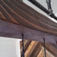 Steel Pipe Chandelier Rustic Wood Beam Pendants