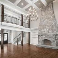 Stone Fireplace Design Stacked Ideas Compact Living Room