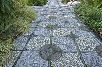 Stone Path Chinese Garden Stock Davidgn