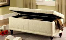 Storage Bench Ottoman Tufted Accents