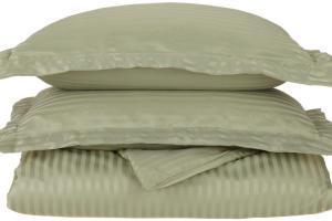 Striped Duvet Cover Set Shams Wrinkle
