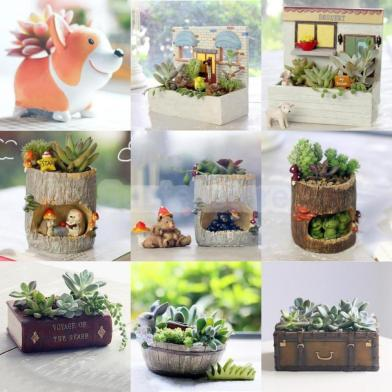 Succulent Planter Flower Plant Bonsai Pot Garden Herb