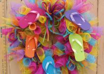 Summer Flip Flop Deco Mesh Wreath Southernaccentsetc