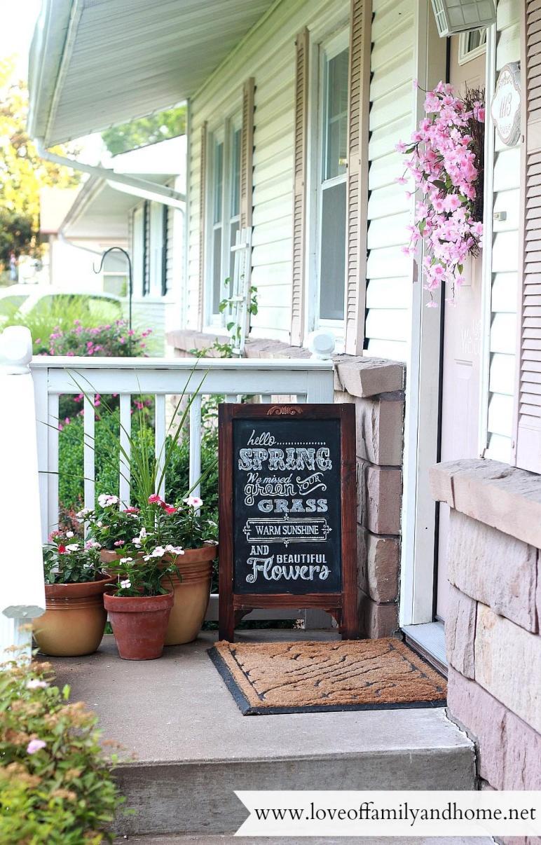 Summer Porch Makeover Chalkboard Art Love Family Home