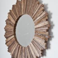 Sunburst Mirror Reclaimed Wood