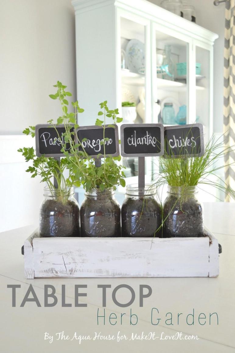 Table Top Herb Garden Old Pallet