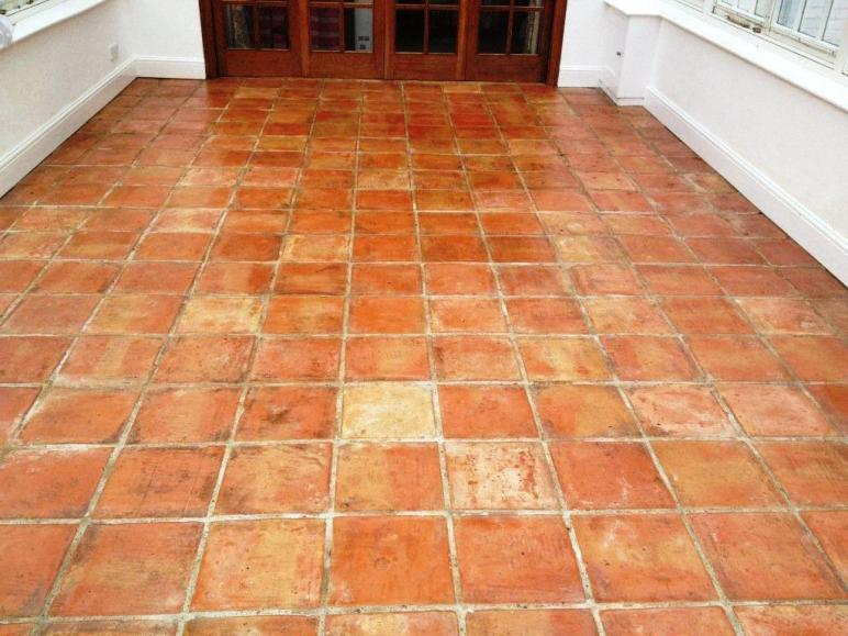 Tackling Stained Terracotta Tiles Conservatory