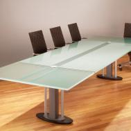 Tangent Glass Conference Table Stoneline Designs