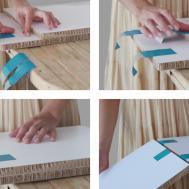 Tapeflips Cardboard Panels Tape Furniture Moco Loco