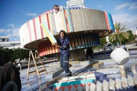 Tel Aviv Takes Down Iconic Fountain Dizengoff Square