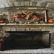 Thanksgiving Fireplace Decorations Fall Mantel
