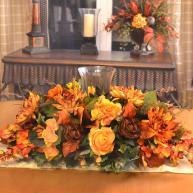 Thanksgiving Floral Centerpiece Home Decor Silk