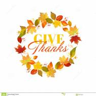 Thanksgiving Give Thanks Clipart 101 Clip Art