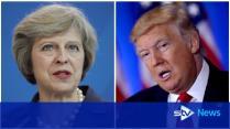 Theresa May Welcomes Donald Trump Trade Deal Pledge