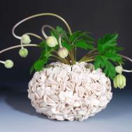 Thousand Petal Vase Handmade Ceramics Home Decorating