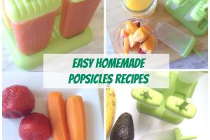 Three Easy Homemade Popsicles Recipes