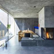 Tiny Concrete Bunker Opens Reveal Story Home