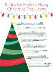 Tips Hang Christmas Tree Lights Improvements Blog