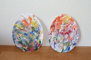 Toddler Approved Jan Brett Inspired Easter Egg Crafts