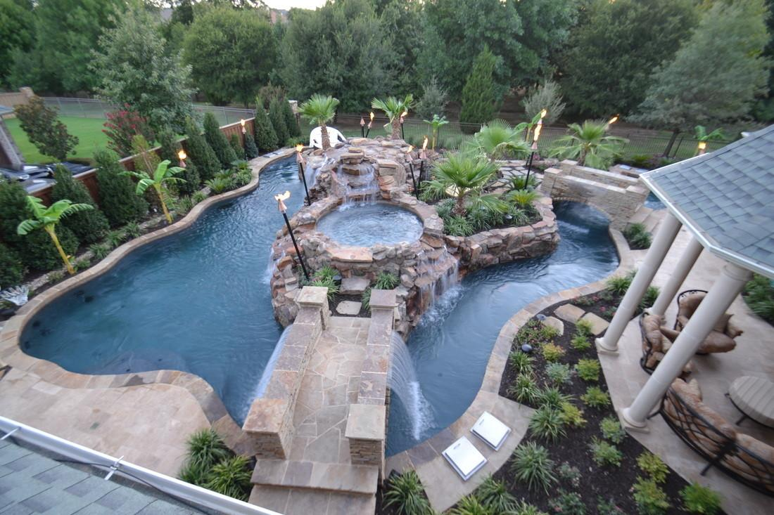 Top Large Backyard Lazy River Pool Design Small ...