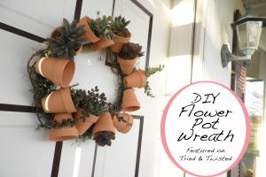 Tried Twisted Diy Flower Pot Wreath