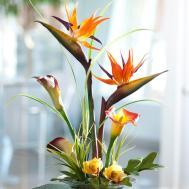 Tropical Bird Paradise Calla Lily Silk Flower