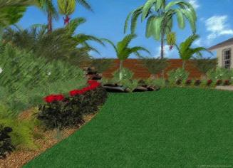 Tropical Gardens Interior Design Sketches