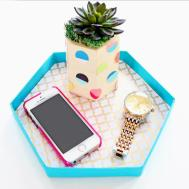 Turn Paper Mache Lid Into Decorative Tray Blitsy