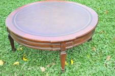 Turn Vintage Coffee Table Into Tufted Upholstered