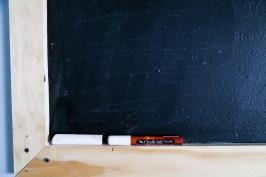 Turn Your Wall Into Giant Blackboard Love