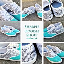 Tutorial Diy Sharpie Doodle Shoes Dandelion Drift