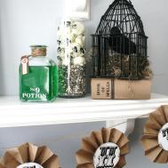 Twine Antique Lettering Easily Dress Shelf