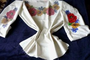 Ukrainian Vyshyvanka Beaded Embroidery Pattern Blouse