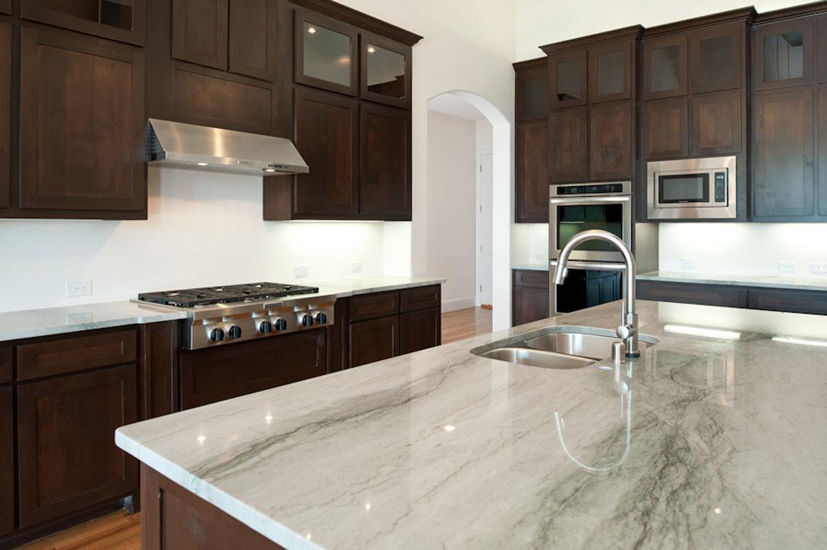 Modern Kitchen With Granite Novocom Top