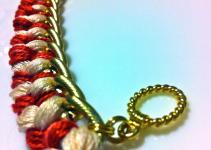 Valentine Day Diy Woven Chain Link Bracelet