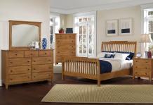 Vaughan Bassett Bed 310 312 Buy Simply Oak Rake Sleigh