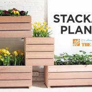 Vertical Garden Made Diy Stackable Planters Doovi